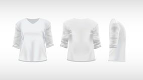 White T-shirt with rolled up sleeves Stock Images