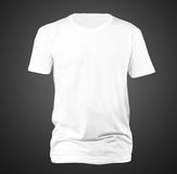 White t-shirt template. USE FOR LAYOUT, DESIGN, & BACKGROUND Royalty Free Stock Photos
