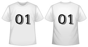 Free White T-shirt Template With Front And Back Royalty Free Stock Photography - 82517877