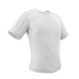 White T-shirt on a white. White T-shirt isolated on white background. 3d illustration Royalty Free Stock Image