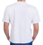 White t-shirt on a young man. back Royalty Free Stock Photo