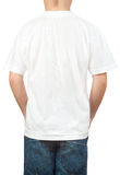 White t-shirt on a young man. back Stock Photography