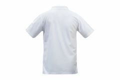 White T-shirts back isolated white background. with clipping pat stock photo