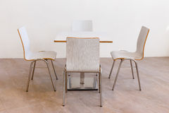White table and chair set Royalty Free Stock Photos
