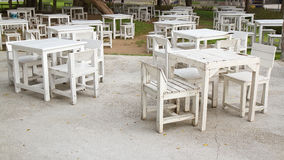 White table with chairs Royalty Free Stock Photography