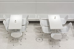 White Table and Chairs Stock Image