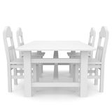 White table and chairs. Isolated render on a white background Stock Images