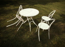 White table and chairs Stock Photography