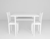 White table and chairs in room Royalty Free Stock Photography