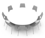 The white table Royalty Free Stock Images