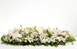 White table flower decoration Royalty Free Stock Images