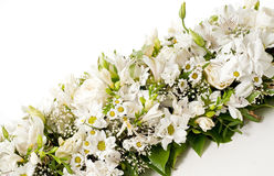 White table flower decoration Stock Photo