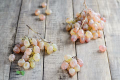 White table grapes on a rustic background stock photography