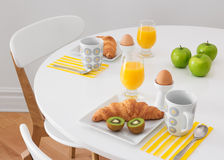 White table with healthy breakfast Royalty Free Stock Photos