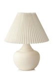White table lamp. On a white background Royalty Free Stock Photos