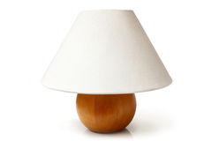 White table lamp. On a white background Royalty Free Stock Photography