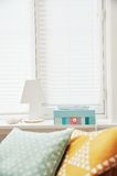 White Table Lamp Beside Window during Daytime Stock Photography