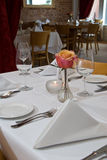 White table setting Royalty Free Stock Photos