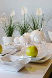 White Table Setting Royalty Free Stock Photography