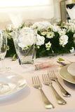 White table setting royalty free stock images
