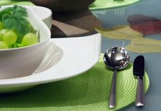 White table settings Royalty Free Stock Image