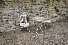 White Table With Two Chairs Royalty Free Stock Photos