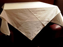 White tablecloth in restaurant Stock Image