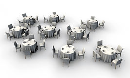 White tables Royalty Free Stock Photo
