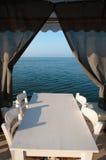 White Tables Restaurant Royalty Free Stock Photo