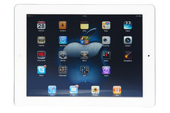 White tablet stock image