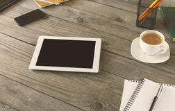 White tablet with blank screen Royalty Free Stock Photos