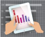 White tablet computer Stock Images