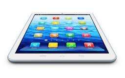 White tablet computer Stock Photos