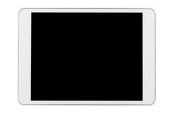 White tablet computer isolated on white background Stock Photography