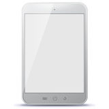 White Tablet Computer Vector Illustration. Royalty Free Stock Photography