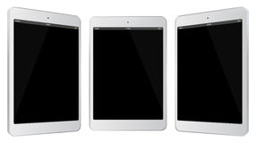White Tablet Computer Vector Illustration. Stock Image