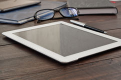 Free White Tablet Computer With Office Objects Royalty Free Stock Photo - 62108925