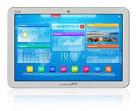 White tablet PC Royalty Free Stock Photos