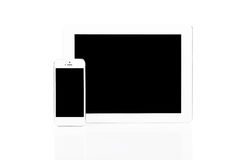 White Tablet Pc and Smartphone Royalty Free Stock Photo