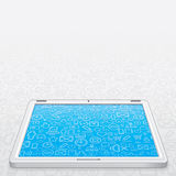 White Tablet PC Vector Stock Photo