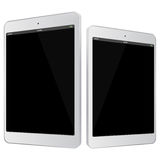 White Tablet PC Vector Illustration. Stock Images