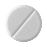 White tablet pill Royalty Free Stock Photo