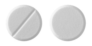 White tablet pills Stock Photography