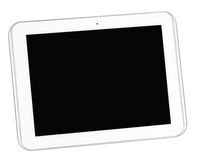 White tablet smart phone isolated Royalty Free Stock Images