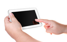 White tablet smart phone isolated Royalty Free Stock Photo