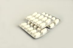 White Tablets Stock Photos