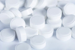 White tablets - abstract medical Stock Photos