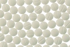 White tablets in abundance Royalty Free Stock Photo
