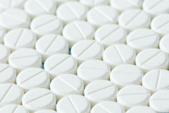 White tablets or medicine Stock Image