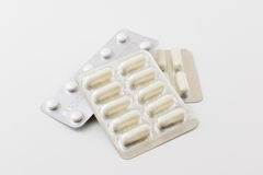 White tablets and pills Stock Image